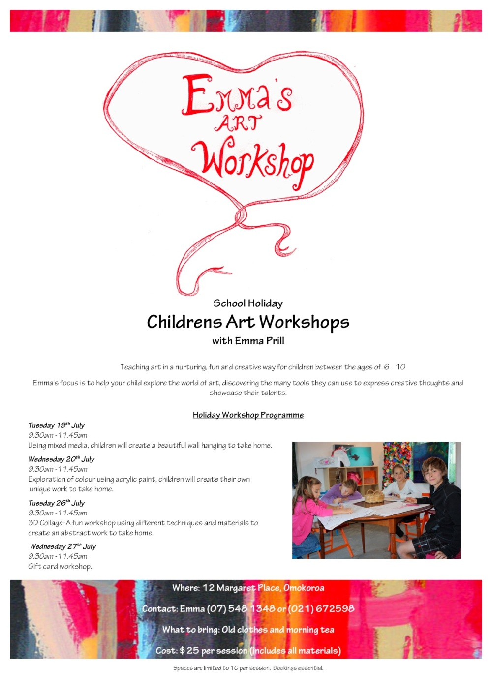 Children's Art Classes in July Holidays 2011