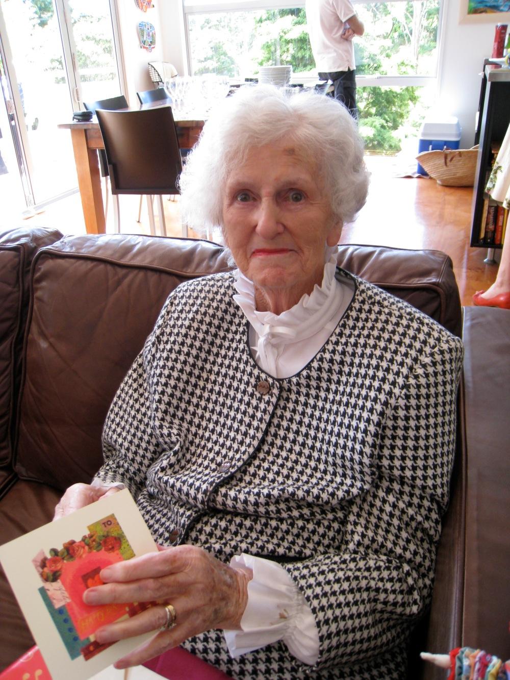 Frances Thelma Whitehead turns 90