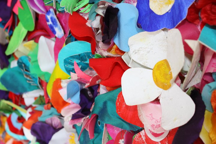 Emma Prill's flower 'painting'