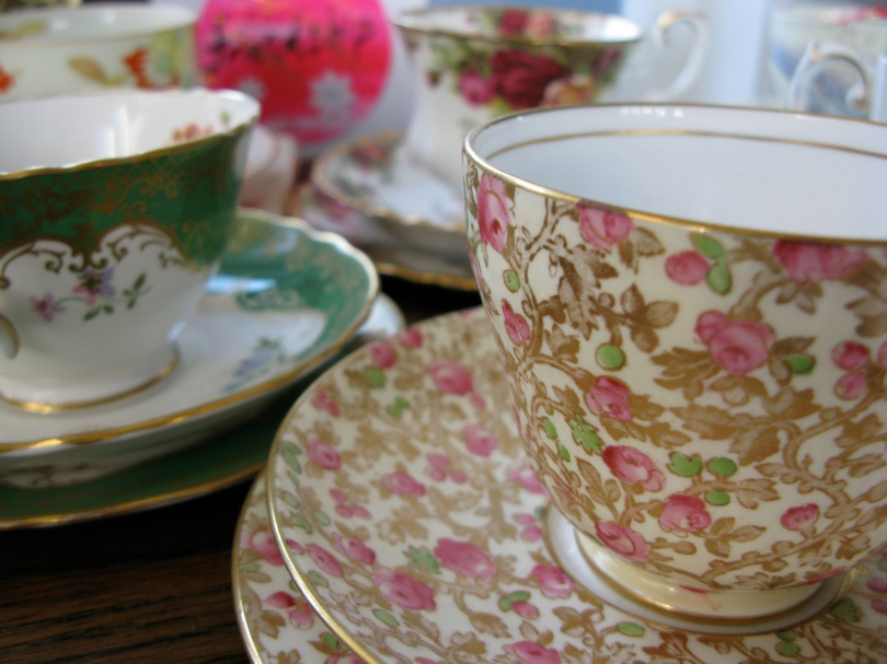 Grandma's teacups for the Creative Day for Women