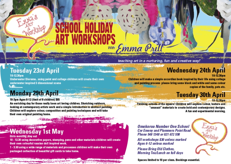 emma prill's art classes April 2013