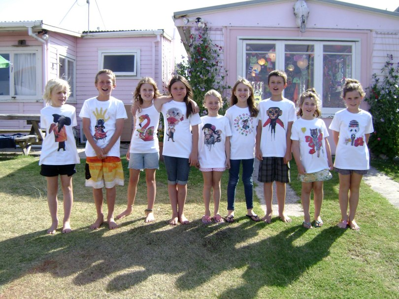 Heidi's kids' art classes - design your own collage t.shirt