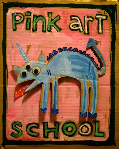 poster for heidi borchardt's kids' art classes