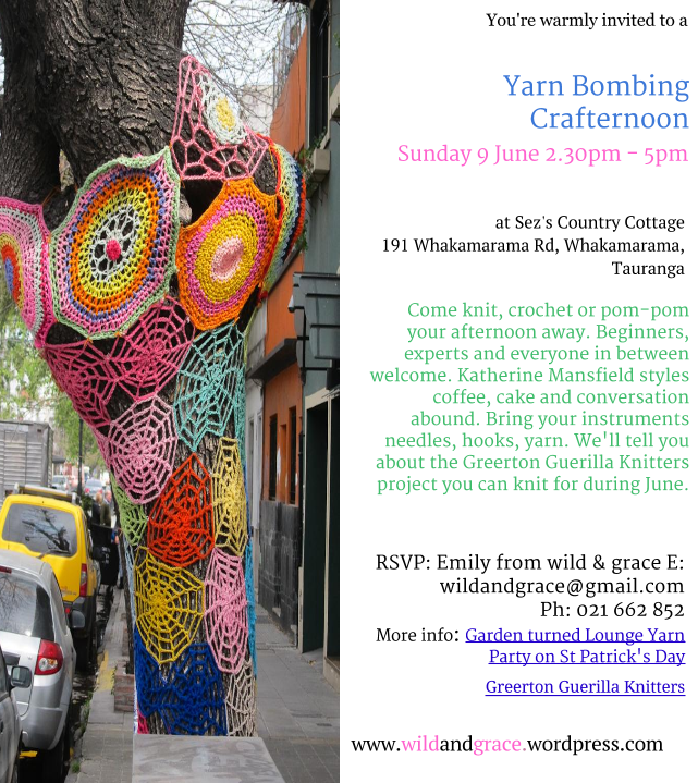 Yarn Bombing Crafternoon 28 April 2013 (5)