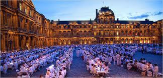 paris dinner in white