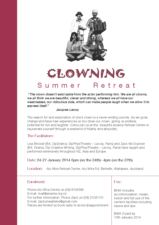Jan 2014 clown summer retreat (1)