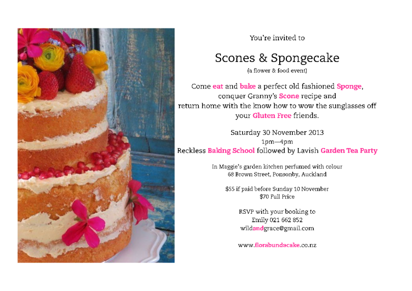 Scones and Spongecake a flower and food event