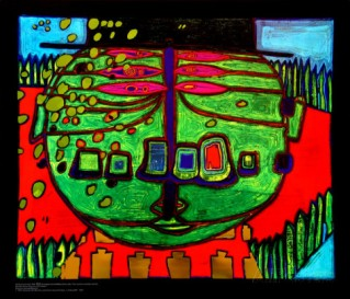 friedensreich-hundertwasser-three-eyed-green-buddha-with-hat-c-1963