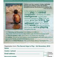 The Sacred Urge to Play: 1-day workshop with Pennie Brownlee - in Tauranga Saturday 3 November 2018