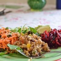 Carrot, currant and coconut salad - Julie Le Clerc
