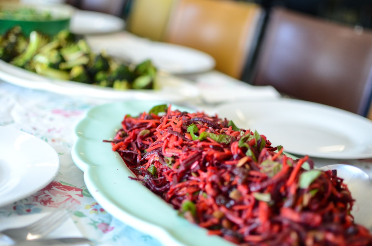 Carrot & Beetroot Salad with Pomegranate Molasses from Ripe Cafe